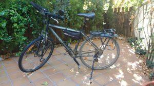 Bicicleta preparada para cicloturismo