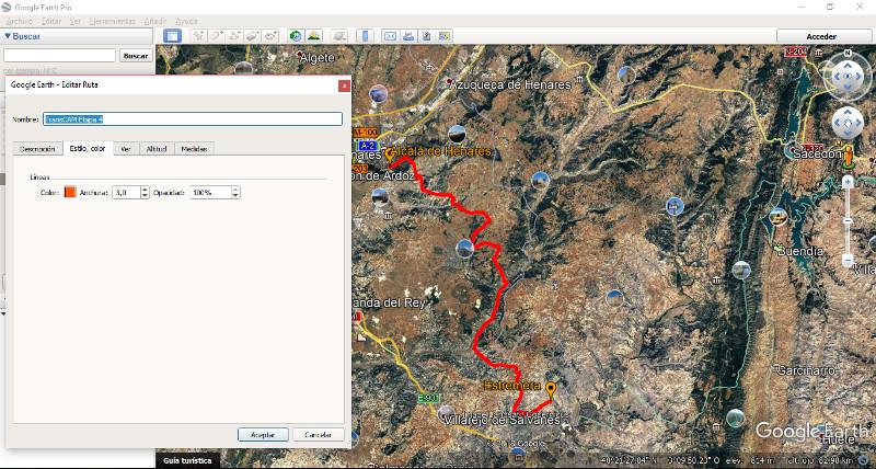 Google Earth - dibujando la ruta
